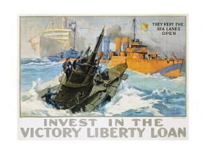 Invest in the Victory Liberty Loan Poster by L^a^ Shafer