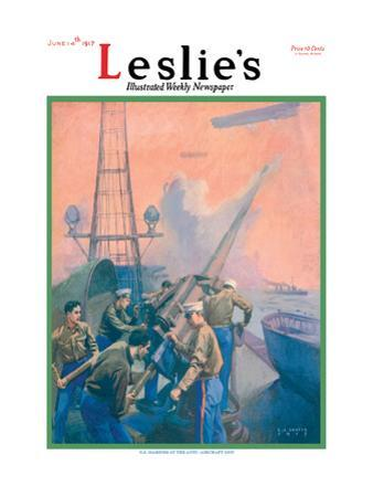 Leslie's: U.S. Marines at the Anti-Aircraft Gun