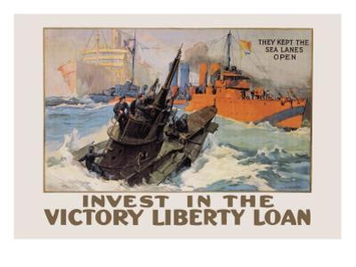They Kept the Sea Lanes Open, Invest in the Liberty Loan