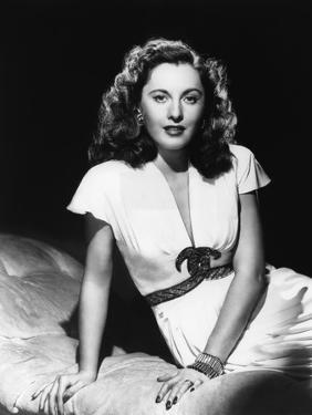L'actrice americaine Barbara Stanwyck (1907- 1990) dans les annees 40 (b/w photo)