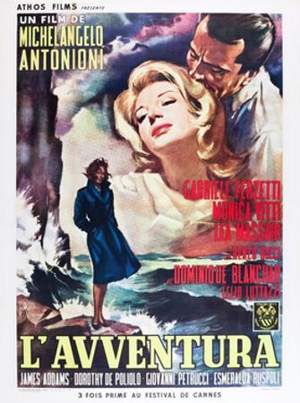 L'AVVENTURA, Monica Vitti, Gabriele Ferzetti, 1960