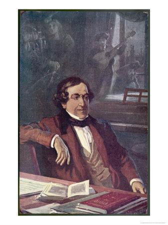 """Gioacchino Rossini Composing His Opera """"Il Barbieri Di Seviglia"""" First Performed"""