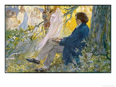 Ludwig Van Beethoven Beethoven Composes His Symphonies Sitting Under a Tree