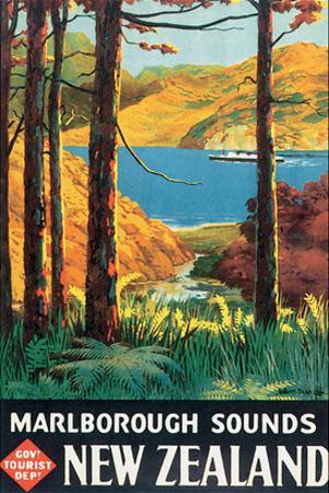 Marlborough Sounds, New Zealand by L. C. Mitchell