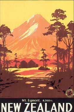 New Zealand, Mt. Egmont by L. C. Mitchell