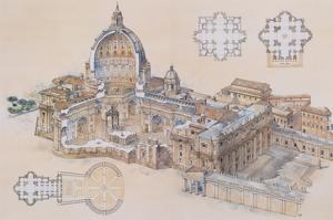 Rome, St. Peter's Basilica by L^ Derrien