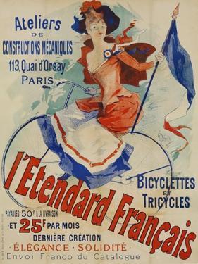 L'Etendard Francais Poster Bu Jules Cheret