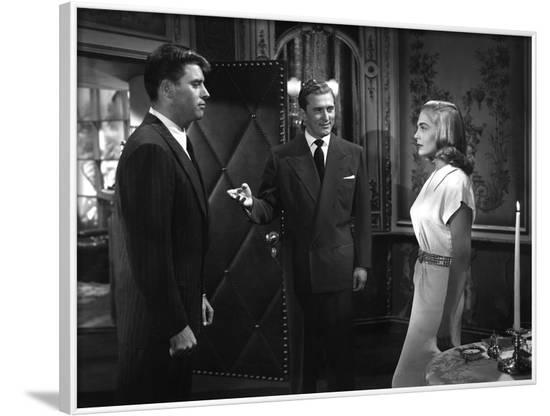 L'Homme aux abois (I Walk Alone) by Byron Haskin with Burt Lancaster, Kirk Douglas, Lizabeth Scott,--Framed Photo
