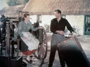 L' Homme Tranquille THE QUIET MAN by JohnFord with John Wayne and Maureen O'Hara, 1952 (photo)