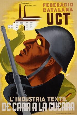L'Industria Textil De Cara a La Guerra Poster