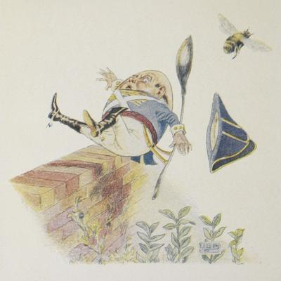Humpty Dumpty'. Colour Illustration For a Children's Book
