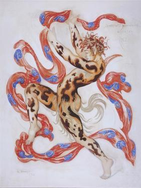 Vaslav Nijinsky in the Ballet the Afternoon of a Faun by C. Debussy by L?on Bakst