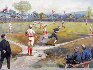 Baseball Game, c1887 by L. Prang & Co.