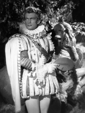 La Belle and la Bete by JeanCocteau with Jean Marais, 1946 (b/w photo)