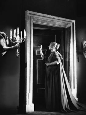 La Belle and la Bete by JeanCocteau with Josette Day, 1946 (b/w photo)