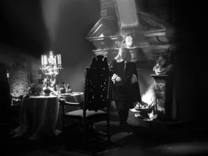 La Belle and la Bete by JeanCocteau with Marcel Andre, 1946 (b/w photo)