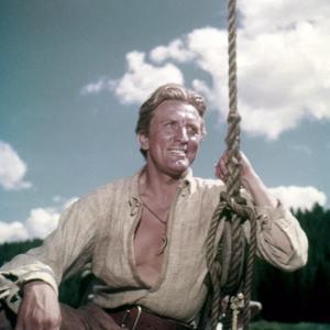 La captive aux yeux clairs THE BIG SKY by HowardHawks with Kirk Douglas, 1952 (photo)