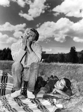 La captive aux yeux clairs THE BIG SKY by HowardHawks with Kirk Douglas, Elizabeth Threatt, 1952 (b