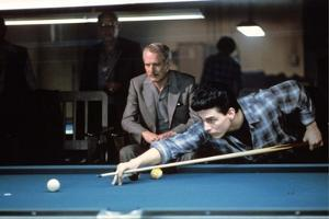 La Couleur by l'Argent THE COLOR OF MONEY by Martin Scorsese with Tom Cruise and Paul Newman, 1986