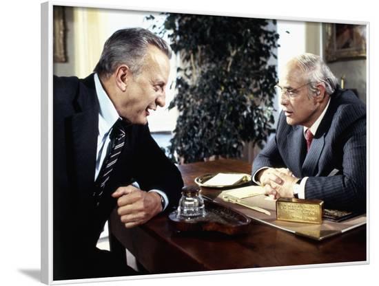 La formule (The Formula) by John G. Avildsen with George C. Scott and Marlon Brando, 1980 (photo)--Framed Photo