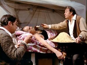 LA GRANDE BOUFFE, 1973 directed by MARCO FERRERI Philippe Noiret, Michel Piccoli and Ugo Tognazzi (