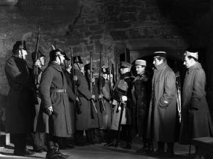 La grande Illusion by JeanRenoir with Eric von Stroheim, Pierre Fresnay and Jean Gabin., 1937 (b/w
