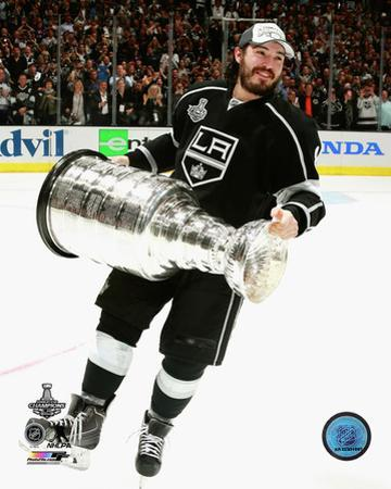 LA Kings Drew Doughty with the Stanley Cup Game 5 of the 2014 Stanley Cup Finals