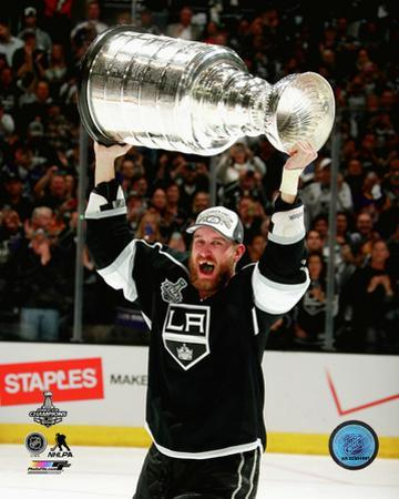 LA Kings Jeff Carter with the Stanley Cup Game 5 of the 2014 Stanley Cup Finals