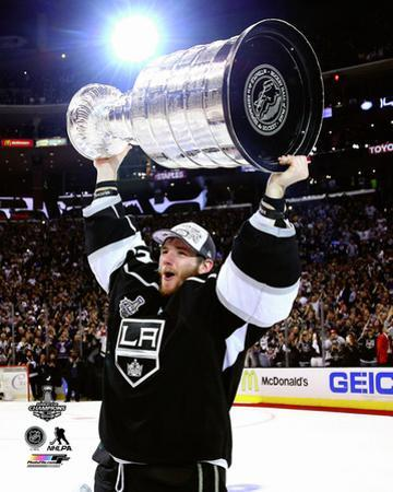 LA Kings Jonathan Quick with the Stanley Cup Game 5 of the 2014 Stanley Cup Finals