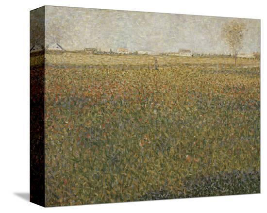 La Luzerne, Saint-Denis, 1885-Georges Seurat-Stretched Canvas Print