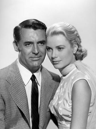 La Main au Collet TO CATCH A THIEF by AlfredHitchcock with Cary Grant and Grace Kelly, 1955 (b/w ph
