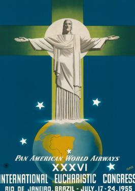 Pan American Airways Rio de Janeiro, Brazil, Christ on the Cross, c.1955 by La Motta