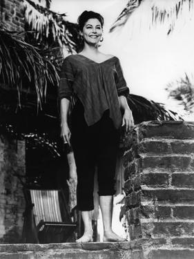 La Nuit by l'iguane THE NIGHT OF THE IGUANA by John Huston with Ava Gardner, 1964 (b/w photo)