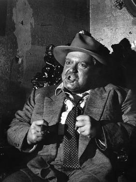 La Soif du Mal TOUCH OF EVIL by OrsonWelles with Orson Welles, 1958 (b/w photo)