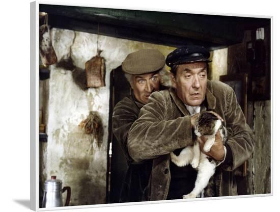 La soupe aux choux by JeanGirault with Jean Carmet and Louis by Funes, 1981 (photo)--Framed Photo