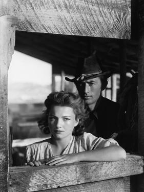 La Ville Abandonnee YELLOW SKY by William Wellman with Anne Baxter and Gregory Peck, 1948 (b/w phot