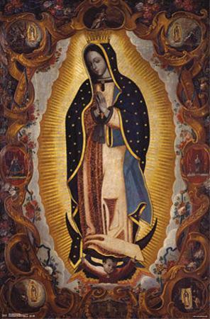 La Virgen De Guadalupe Religious Poster