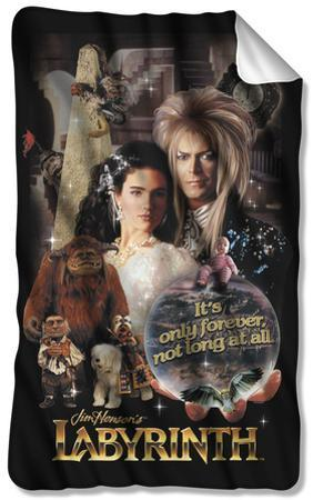 Labyrinth - Only Forever Fleece Blanket
