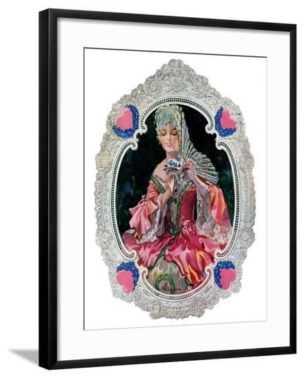 """Lace Valentine,""February 15, 1930-Elbert Mcgran Jackson-Framed Giclee Print"
