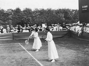 Ladies' Doubles Match at Wimbledon