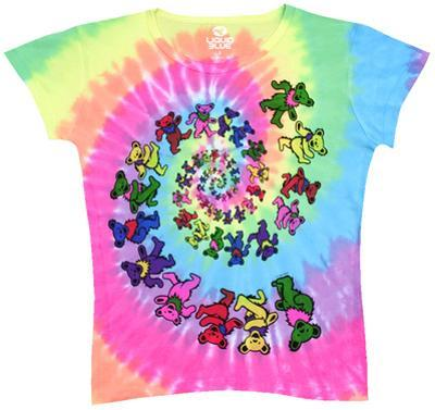 Ladies: Grateful Dead-Spiral Bears