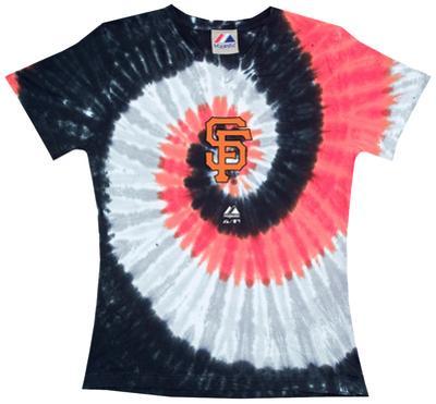Ladies: MLB-Sf Giants Spiral V-Neck