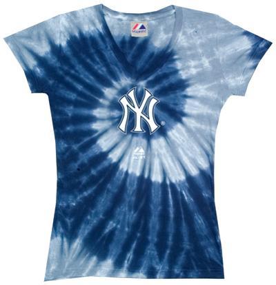 Ladies: MLB-Yankees Spiral V-Neck