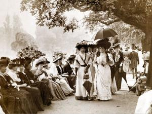 Ladies of Edwardian Society Take a Stroll in Hyde Park, 1905