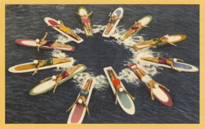 Ladies on Surfboards, Radial Pattern