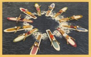 Ladies on Surfboards, Radial Pattern