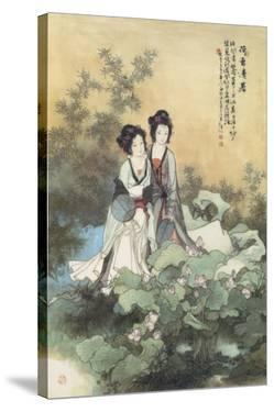Ladies with Lotus Flowers