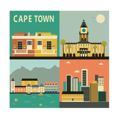 Cape Town City. Vector by Ladoga