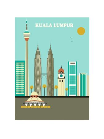 Kuala Lumpur. Vector by Ladoga