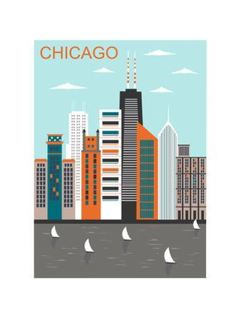 Stylized Chicago City. Vector